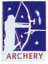 "Pin ""Archery Blue - Recurve"" BF"