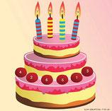 Scheibenauflage Geburtstag - Slyny beschichtet