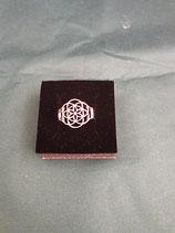 """Ring """"Blume des Lebens"""" Ø20 Edelstahl Ø 20 mm Gr. M"""