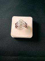 """Ring """"Blume des Lebens"""" Edelstahl Ø 20 mm Gr.M"""