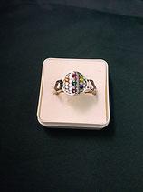 """Ring """"Blume des Lebens"""" Edelstahl Ø 10 mm Gr. L"""