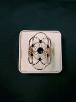 """Ring """"Blume des Lebens"""" Edelstahl Ø ca. 30 mm Gr S"""