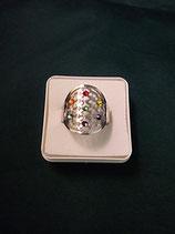 """Ring """"Blume des Lebens"""" Edelstahl Ø 20 mm Gr. S"""