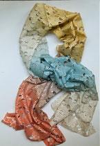 Echarpe en soie lunes multicolores