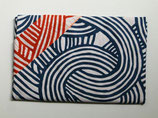 Furoshiki réversible spirales bleues et rouges