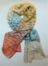 Echarpe en soie multi couleurs