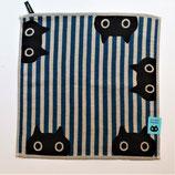 Set de table ou serviette rayée bleue