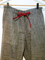 Pantalon indigo chiné, long