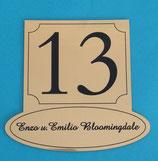 Hausnummer mit Namenschild