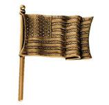 Drapeau américain - Bronze - Ref : 1846