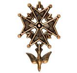 Croix huguenote - Bronze - Ref : 1954