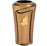 """Vase avec mains finies or série """"Pergamino"""" - Bronze"""