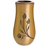 """Vase avec fleurs série """"Vénus"""" - Bronze"""