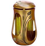 """Lanterne avec fleur d'or série """"Vénus"""" - Bronze"""