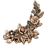 Bouquet côté droit - Bronze