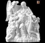 La Miséricorde avec ange - Bronze