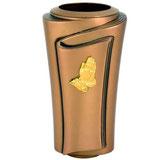 """Vase avec mains or série """"Pergamino"""" - Bronze"""