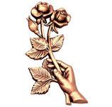 Main avec roses - Bronze