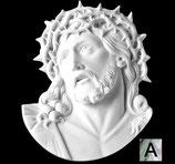 Tête du Christ - Argentée