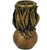 Vase modèle feuilles - Bronze