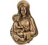 Vierge avec garçon - Bronze