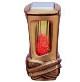 """Lanterne série """"Nudos"""" avec panneau solaire - Bronze"""