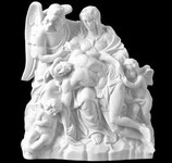 La Miséricorde avec ange - Marbre