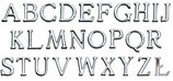 Alphabet : 8 cm