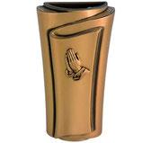 """Vase avec mains série """"Pergamino"""" - Bronze"""
