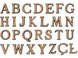 Alphabet : 12 cm