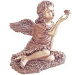 Ange avec papillon - Bronze