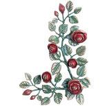 Carrés de fleurs décorées en rouge - Bronze - 1996DDR