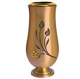 """Vase avec fleur plaquée or série """"Vénus"""" - Bronze"""