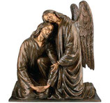 Ange avec Christ - Bronze