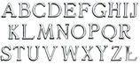 Alphabet : 4,5 cm