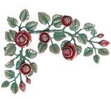 Carrés de fleurs décorées en rouge - Bronze - 1996IDR