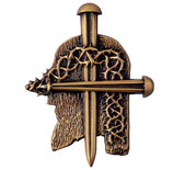 Croix modèle clous - Bronze