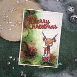"Weihnachtskarte ""Reindeer - Merry Christmas"""