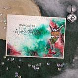 """Weihnachtskarte """"Rentier - Himmlisches Weihnachtsfest"""""""