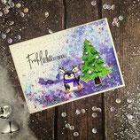 """Weihnachtskarte """"Pinguin - Fröhliche Weihnachten"""""""