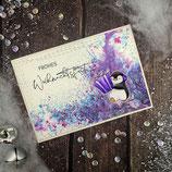 """Weihnachtskarte """"Pinguin - Frohes Weihnachtsfest"""""""