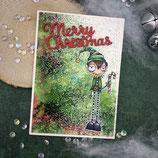 """Weihnachtskarte """"Elf - Merry Christmas"""""""