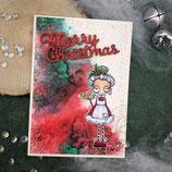 "Weihnachtskarte ""Mrs. Santa - Merry Christmas"""
