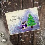 """Weihnachtskarte """"Pinguin - Frohes Weihnachtsfest 1"""""""