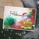 """Weihnachtskarte """"Fröhliche Weihnachts überall"""""""