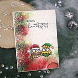 """Weihnachtskarte """"2 Eulen - Frohes Weihnachtsfest"""""""