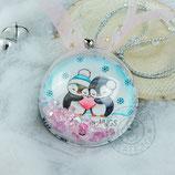 "Weihnachtskugel ""Penguin Love"""