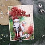 "Weihnachtskarte ""Santa - Merry Christmas"""