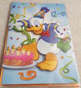 Glückwunschkarte 3D Donald Duck