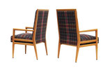 Pair of High Back Armchairs after T.H. Robsjohn-Gibbings